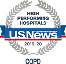 High Performing Hospitals, COPD, U.S. News & World Reports 2018-2019