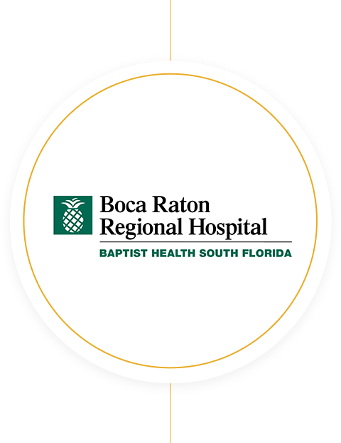 Boca Raton Regional Hospital logo recognizing 50 years of service
